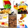 dessert cake and sweets collection collage
